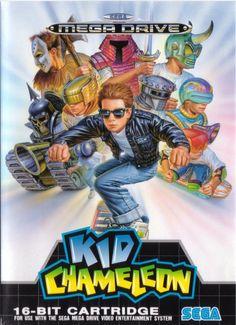 Kid Chameleon | Sega Mega Drive cover art, 1992 #retrogames #16bit