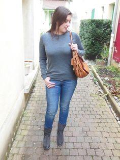 Pull en laine de mérinos - Gap // Jeans - Zara // Boots - AA Copenhagen // Sac - Coach