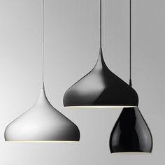 $120 Spinning Teardrop Replica Ceiling Pendant Light #60W #benjamin-hubert #black