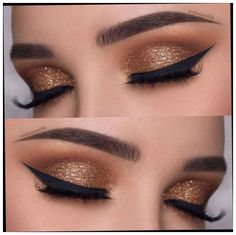 8 Best Eye Shadow Colors for Indian Skin ToneMakeup is an art that uplifts the confidence of a woman. When it comes to makeup, eyes and lips are the feature New Year's Makeup, Gold Eye Makeup, Smoky Eye Makeup, Male Makeup, Makeup For Brown Eyes, Eyeshadow Makeup, Linda Hallberg, Engel Make-up, Indian Skin Makeup