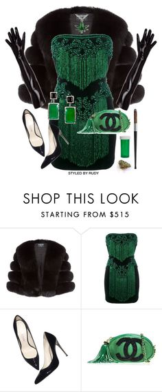 """""""Untitled #1075"""" by styledbyrudy ❤ liked on Polyvore featuring Harrods, Balmain and Chanel"""