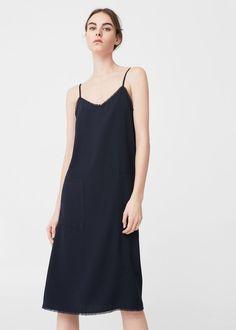 Frayed edges dress -  Women | MANGO USA