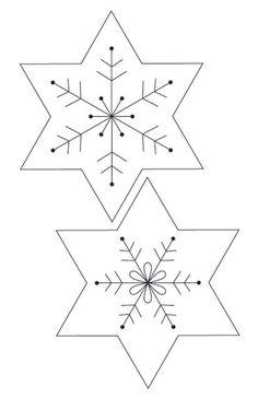 Снежинки из фетра. Новогодние мягкие игрушки своими руками