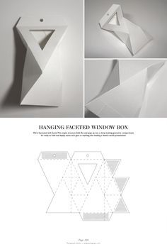 Hanging Faceted Window Box - Packaging & Dielines: The Designer's Book of Packaging Dielines