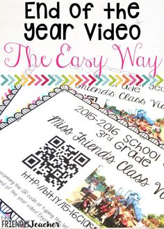 End of the Year Video Tutorial-Without Burning CDs! This is a great end of the year student gift! Parents will love it too!