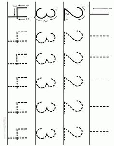 Alphabet Worksheets for Preschoolers - Printable number tracing Tracing Worksheets, Number Worksheets Kindergarten, Numbers Preschool, Learning Numbers, Alphabet Worksheets, Writing Numbers, Preschool Learning, Preschool Activities, Math Numbers