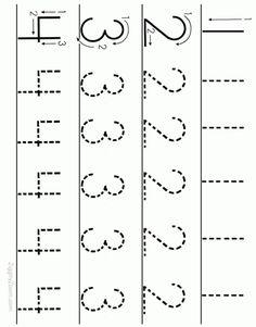 Alphabet Worksheets for Preschoolers | Printable number tracing worksheet for preschoolers. Print and let ...