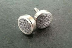 Unisex woven wool cufflinks