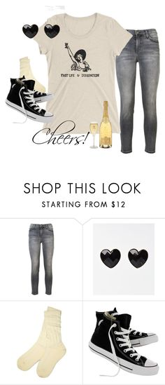 """""""A Night Out"""" by curiouscabinet on Polyvore featuring Current/Elliott, UGG, Converse and StreetStyle"""