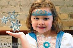 Frozen Crown Temporary Makeup Tattoo by SugarTats on Etsy