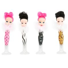 Silly Gifts Set of 15 Assorted Diva Bobble Head Ball Point Pens, Tall