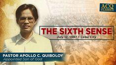 ACQ CLASSICS: The Sixth Sense Spiritual Enlightenment, Spirituality, Thank You Pastor, New Jerusalem, Cebu City, Breaking News Today, Kingdom Of Heaven, Son Of God, Apollo