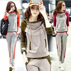 Collection Of Sportswear For Women, Feel The Sporty Look – sporty-style. Sweatshirt Outfit, Hoodie Dress, Sport Style, Sport Chic, Sport Fashion, Trendy Fashion, Korean Fashion, Fashion Women, Fashion Fashion