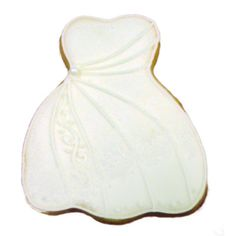 Great wedding shower idea! Pearl Dress Cookie http://www.cookiecards.net/sort_wedding.html#