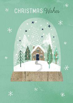 Modern Christmas Snow Globe illustration - X-mas - Christmas Snow Globes, Christmas Mood, Noel Christmas, Modern Christmas, Christmas Design, Christmas Wishes, Vintage Christmas, Christmas Crafts, Christmas Decorations