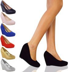 LADIES WOMENS LOW MID HIGH HEELS PLATFORMS WEDGES PUMPS WORK COURT SHOES SIZE £16.00 ebay