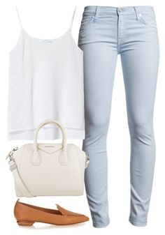 """Mandy"" by dreamtoparis ❤ liked on Polyvore featuring 7 For All Mankind, Zara, Givenchy and Nicholas Kirkwood"