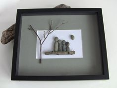 FAMILY  Family of 4  Family Wall Art  Pebble by PebbleCreationz, $68.50