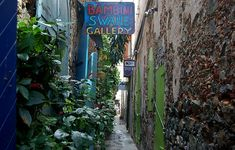 One of the many cafe's, art galleries and jewelry stores that can be found in the alleys of historic Charlotte Amalie, St Thomas of the US Virgin Islands