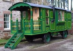 Love all the details in this Beautiful 23' Green Caravan Tiny House | Tiny Homes