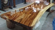 Live Edge Dining Table Acacia Wood Live Edge Reclaimed Solid