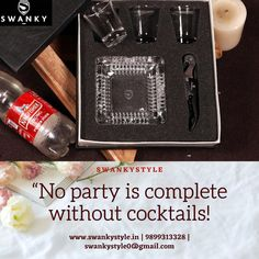 Shop Now - www.swankystyle.in   No Party is Complete without Cocktails Bar Accessories, Bar Set, Fix You, Corporate Gifts, Tequila, Cocktails, Bottle, Party, Shop