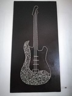 Electric guitar String Art