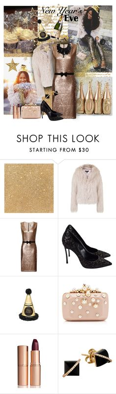 """""""New Years Eve - 2016"""" by tracireuer ❤ liked on Polyvore featuring Topshop, Paper Dolls, Casadei, Elie Saab, Charlotte Tilbury, Madyha Farooqui and Monies"""