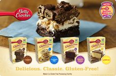 These mixes are delicious, and can be turned into almost any gourment dessert that starts with a cake, cookie or brownie mix! Gluten Free Baking Mixes - Betty Crocker