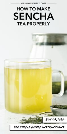 Sencha tea is a delicious green tea. This grassy infusion tea can be made hot or iced. Sencha tea is a caffeinated green tea perfect anytime! Hot Tea Recipes, Sencha Tea, Acquired Taste, Oolong Tea, Tea Sandwiches, Recipe Steps, Brewing Tea, Best Tea, Simple Syrup