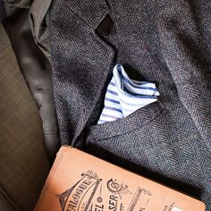 Set of Two Hand-Stitched Pocket Squares - Made by Ledbury, exclusively for Garden & Gun