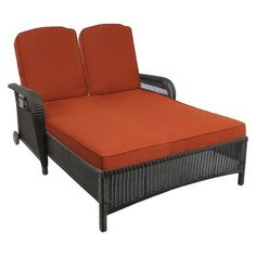 Threshold™ Madaga Wicker Patio Double Chaise Lounge - Terracotta