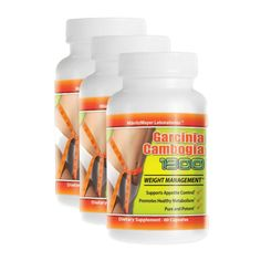 3 Pack PURE Garcinia Cambogia Weight Loss Extract 60%