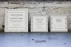 custom curvy letterpress wedding invitation by Bella Figura