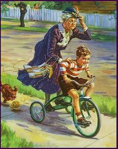 Takin' Grandma for a ride-By Henry Hintermeister
