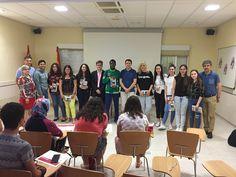 El jurado con los ganadores de Bachillerato y ESO