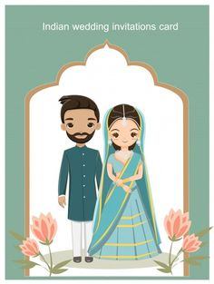 indian wedding couple in traditional dress for wedding invitations card Royal Indian Wedding, Wedding Card Design Indian, Indian Wedding Couple, Indian Wedding Cards, Indian Bride And Groom, Wedding Cards Handmade, Wedding Designs, Wedding Card Wordings, Indian Wedding Invitation Cards