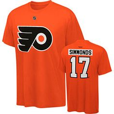 b0ceaf72cbe Get this Philadelphia Flyers Wayne Simmonds Name and Number T-Shirt at  PhillyTeamStore.com