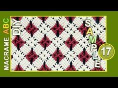 Macrame ABC - pattern sample #17