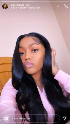 Baddie Hairstyles, Black Girls Hairstyles, Weave Hairstyles, Pretty Hairstyles, Curls For The Girls, Pelo Natural, Natural Hair Styles, Long Hair Styles, Brown Skin Girls