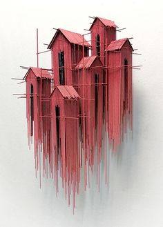 New architectural sculptures by David Moreno appear as three-dimensional drawing. - New architectural sculptures by David Moreno appear as three-dimensional drawings – Architecture - Sculpture Ornementale, Sculpture Ideas, Wire Sculptures, Architectural Sculpture, Architectural Painting, Architectural Models, Cultural Architecture, Drawing Architecture, Wood Architecture