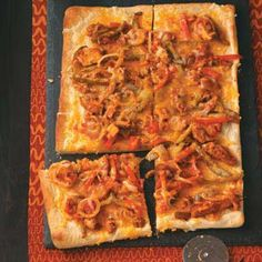 Chicken Fajita Pizza Recipe from Taste of Home