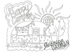 Image Result For Happy Camper Coloring Pages