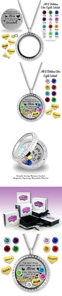 The Best Thing About Having You As My Mom Is My Kids Having You As A Grandma Gifts for Mom - Floating Charms Locket