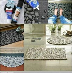 River Stone Bath Mat - www.tattoedmartha.com