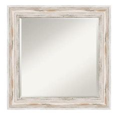 """View the Amanti Art DSW577345 Alexandria 25-1/8"""" x 25-1/8"""" Square Beveled Wood Framed Accent Mirror at Build.com."""
