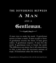 Man & gentleman