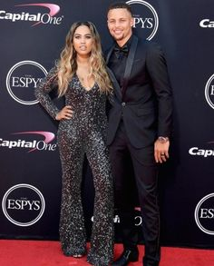 Ayesha and Stephen Curry at the ESPYS