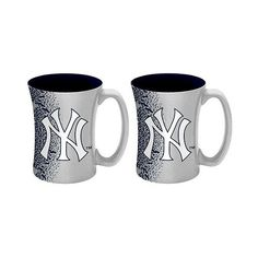 New York Yankees Boelter  oz Mocha Mug 2-Pack ($40) ❤ liked on Polyvore featuring home, kitchen & dining, drinkware, new york yankees, logo mugs, ceramic mugs, baseball cup, logo ceramic mugs and bpa free cups