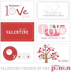 A bunch of free Valentine Printables